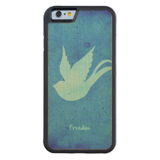 Freedom swallow carved maple iPhone 6 bumper case