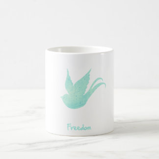 Freedom swallow coffee mug