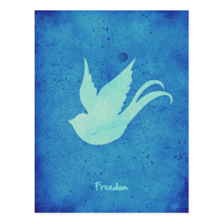 Freedom swallow postcard