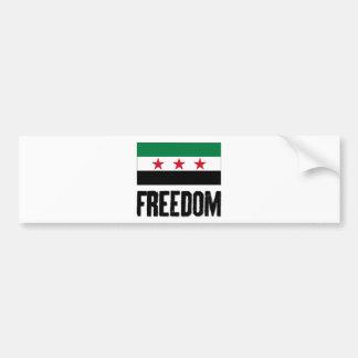 Freedom - Syria Bumper Sticker