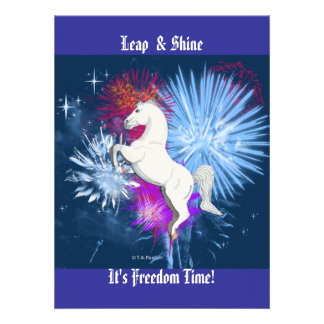 Freedom Time Horse Invitation