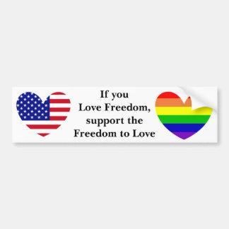 Freedom To Love Bumper Sticker