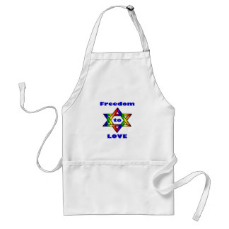 Freedom to Love Zazzle.png Adult Apron