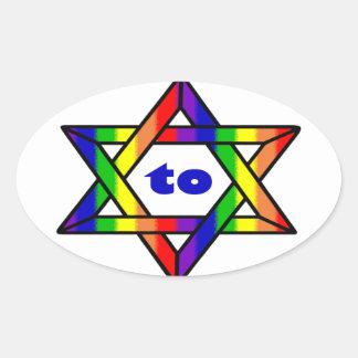 Freedom to Love Zazzle.png Oval Sticker