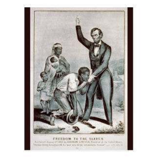 Freedom to the Slaves, Abraham Lincoln Postcards