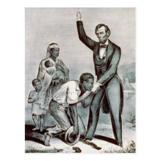Freedom to the Slaves Abraham Lincoln Postcards