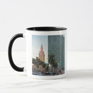 Freedom tower and highrise buildings mug