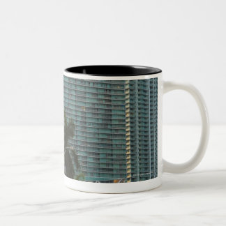 Freedom tower and highrise buildings Two-Tone coffee mug