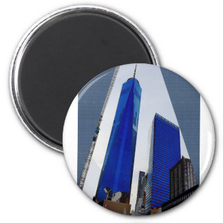 Freedom Tower New York formerly World Trade Centre 2 Inch Round Magnet