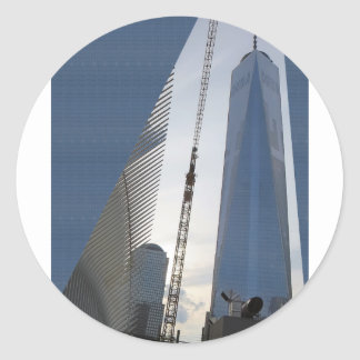 Freedom Tower New York formerly World Trade Centre Classic Round Sticker