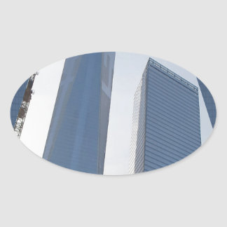 Freedom Tower New York formerly World Trade Centre Oval Sticker