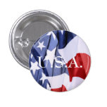 Freedom Usa Flag Buttons at Zazzle
