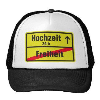 Freedom vs wedding trucker hat