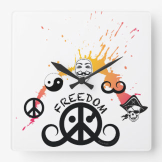 "Freedom wall clock (sq 10.75""; origin/mini splash)"