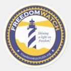 Freedom Watch Classic Round Sticker