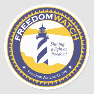 Freedom Watch Classic Round Sticker