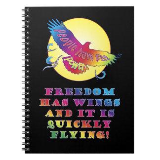 Freedom Wings ~ People Power Spiral Notebook