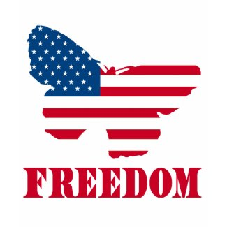Freedom with USA Flag Butterfly Products shirt