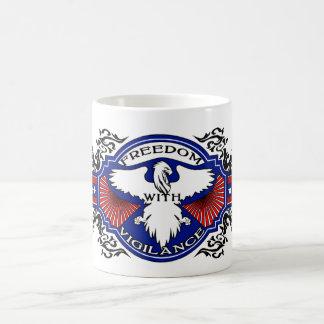 Freedom With Vigilance design 3 Coffee Mug