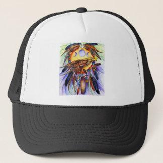 Freedom Wolf and Eagle Spirits Unite Trucker Hat