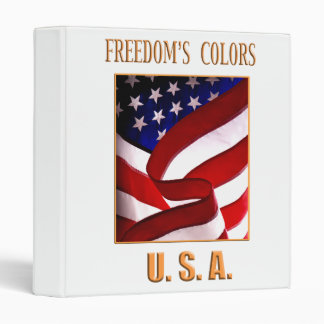Freedom's Colors USA 3 Ring Binders