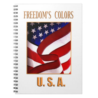 Freedom's Colors USA Spiral Note Book