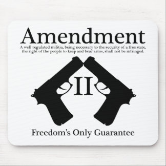 Freedom's Only Guarantee Mousepad