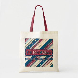 FreedomStripeSquare Tote Bag
