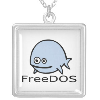FreeDos Fish - Blue with Name Necklaces