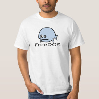 FreeDos Fish - Blue with Name T-Shirt