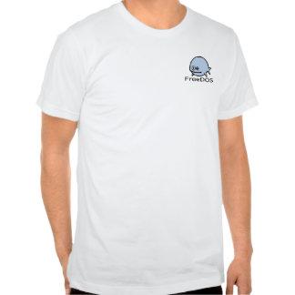 FreeDos Fish - Blue with Name Tshirt