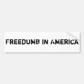 Freedumb Bumper Sticker