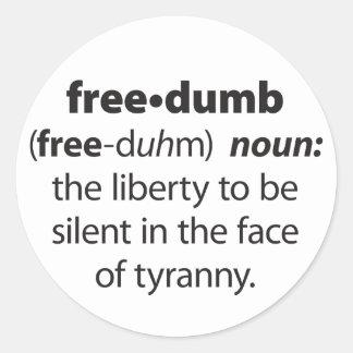 Freedumb Classic Round Sticker