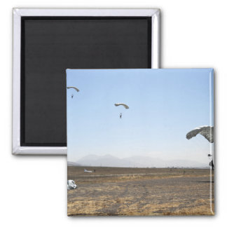 Freefall parachute jumpers 2 inch square magnet