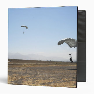 Freefall parachute jumpers 3 ring binder