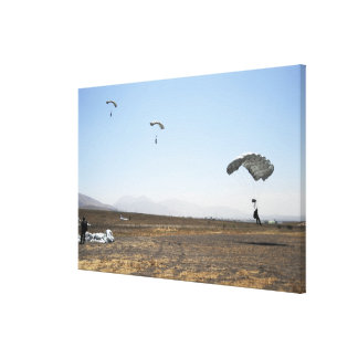 Freefall parachute jumpers canvas print