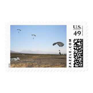 Freefall parachute jumpers postage