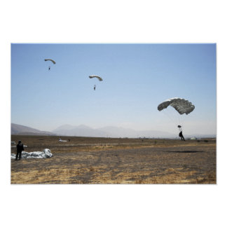 Freefall parachute jumpers poster