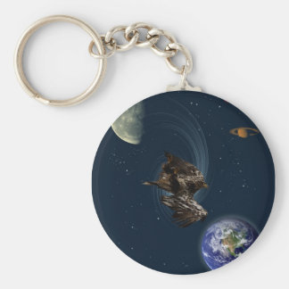 Freefalling Bald Eagle Gifts Basic Round Button Keychain