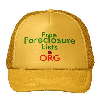 FreeForeclosureLists.ORG - Ad Cap Hats
