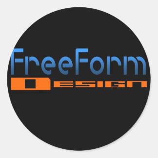 FreeForm Design Logo Classic Round Sticker