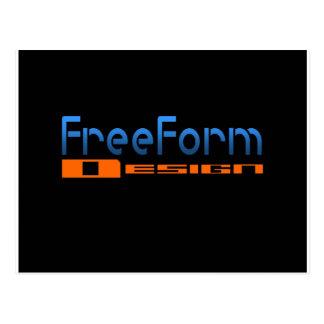 FreeForm Design Logo Post Card