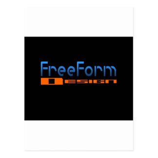 FreeForm Design Logo Postcard