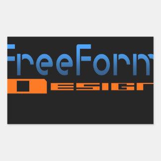 FreeForm Design Logo Rectangular Sticker
