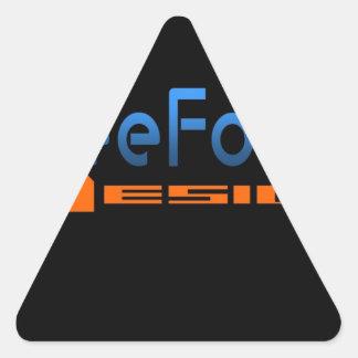 FreeForm Design Logo Triangle Sticker