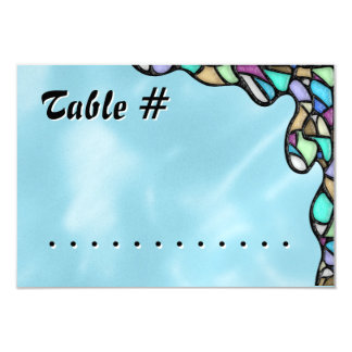 Freeform Leaded Glass (Table Number) Card