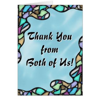 Freeform Leaded Glass (Thank You From Both) Card