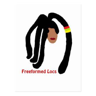 Freeformed Locs Postcard