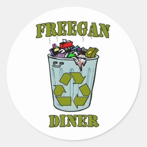Freegan Diner Round Sticker