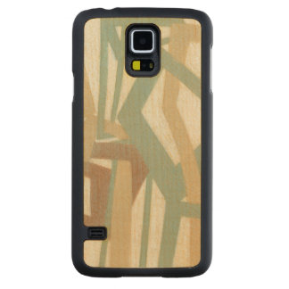 Freehand Painting by Norman Wyatt Carved Maple Galaxy S5 Slim Case